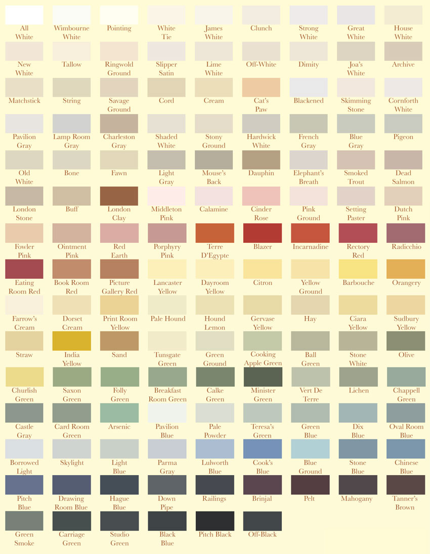 farrow and ball kleurenschema